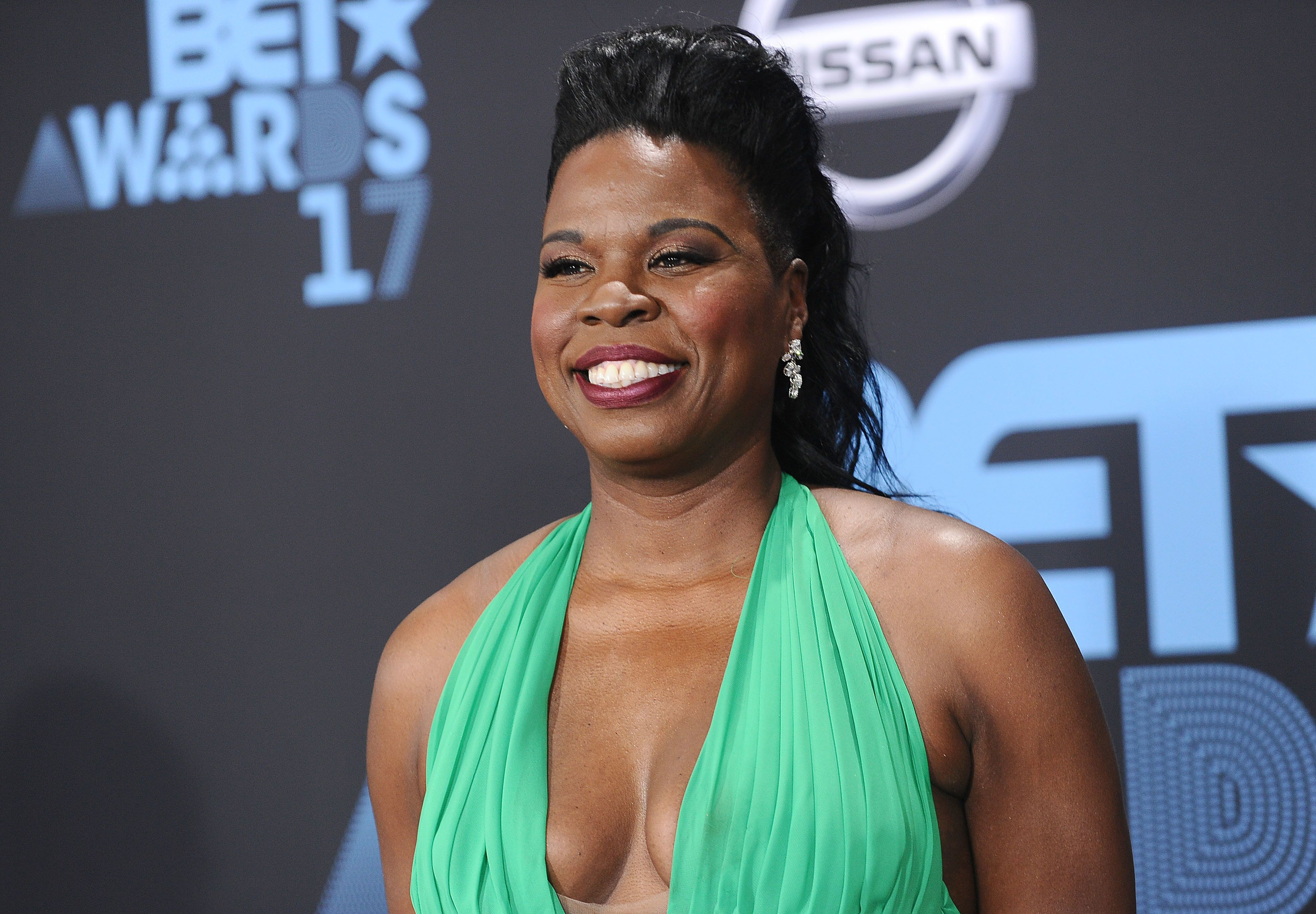 LOS ANGELES, CA - JUNE 25:  Actress Leslie Jones attends the 2017 BET Awards at Microsoft Theater on June 25, 2017 in Los Angeles, California.  (Photo by Jason LaVeris/FilmMagic)