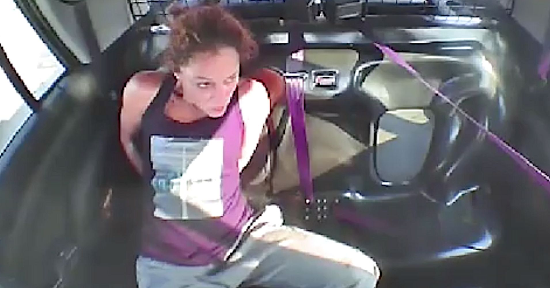 Video: Woman slips cuffs, leads police on high-speed chase