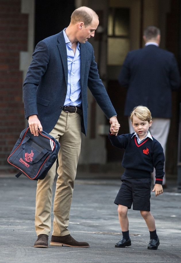Prince George Photographed On First Day Of School At Thomas's Battersea In