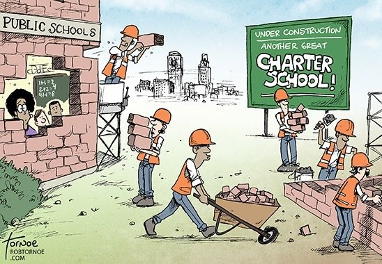 Evidence does not support shift to charter schools.