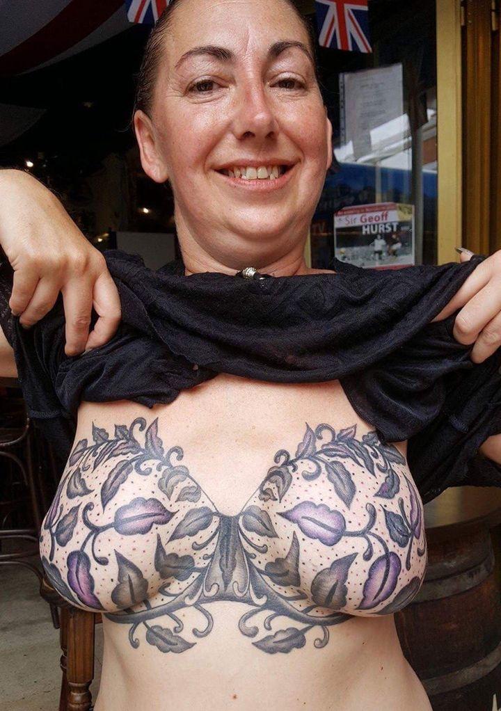 Michelle's lingerie tattoo.