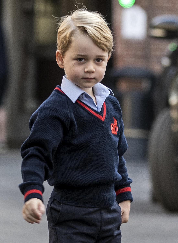Off to school he goes!