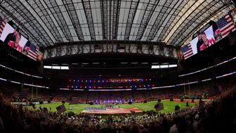HOUSTON, TX - FEBRUARY 05: An overview of the inside of NRG Stadium during the color presentation prior to the start of Super Bowl 51 between the New England Patriots and Atlanta Falcons on February 5, 2017 in Houston, Texas. The Patriots defeat the Atlanta Falcons 34-28 in overtime. (Photo by Focus on Sport/Getty Images) *** Local Caption ***