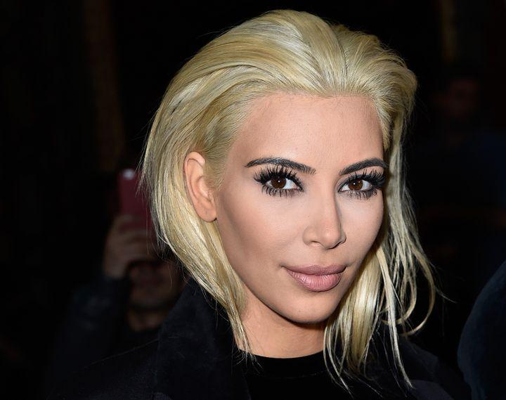 Kardashian attends the Balmain show at Paris Fashion Week Womenswear Fall/Winter 2015/2016 on March 5, 2015 in Paris, France.