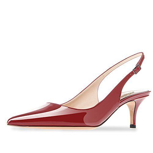 "A slingback with a kitten heel perfectly complements the femininity of a midi skirt. Shop them <strong><a href=""https://www.a"