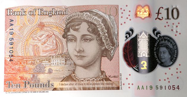 The new £10 note features Jane
