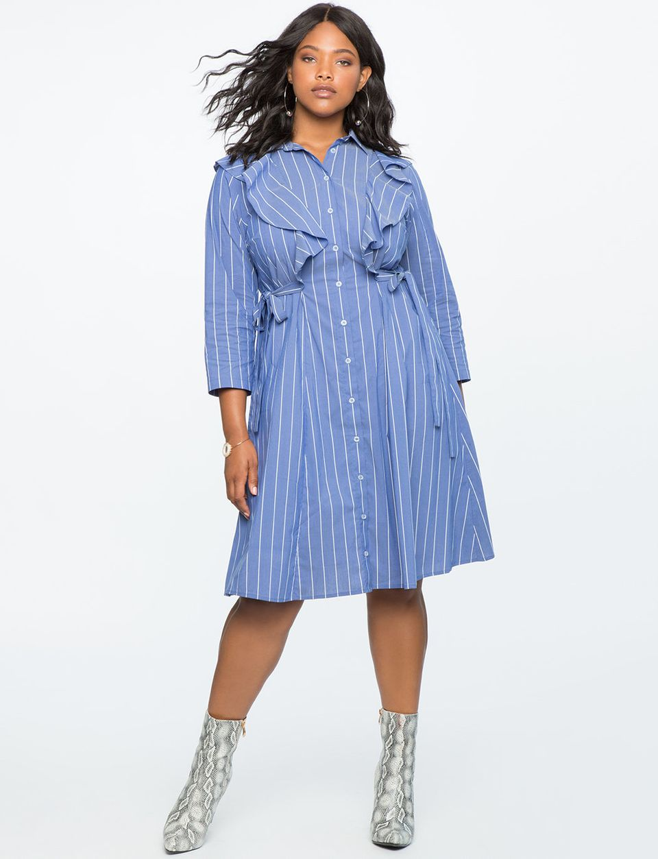 60c7437c153 28 Button Down Dresses And Skirts For Plus Size That Won t Gape ...