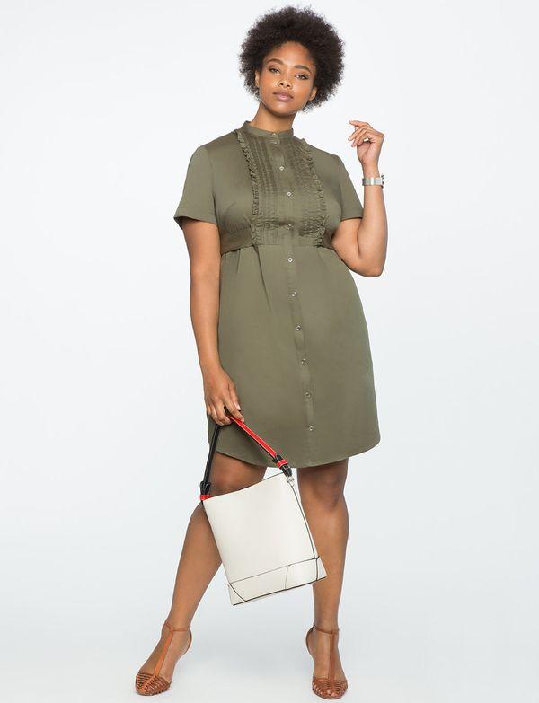 "<a href=""http://www.eloquii.com/pintucked-bib-shirt-dress/1234519.html?cgid=2628-dresses&start=98&dwvar_1234519_color"