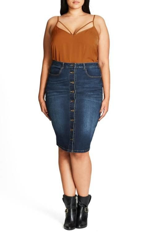 """<a href=""""http://shop.nordstrom.com/s/city-chic-pin-up-denim-skirt-plus-size/4509713?origin=category-personalizedsort&fash"""