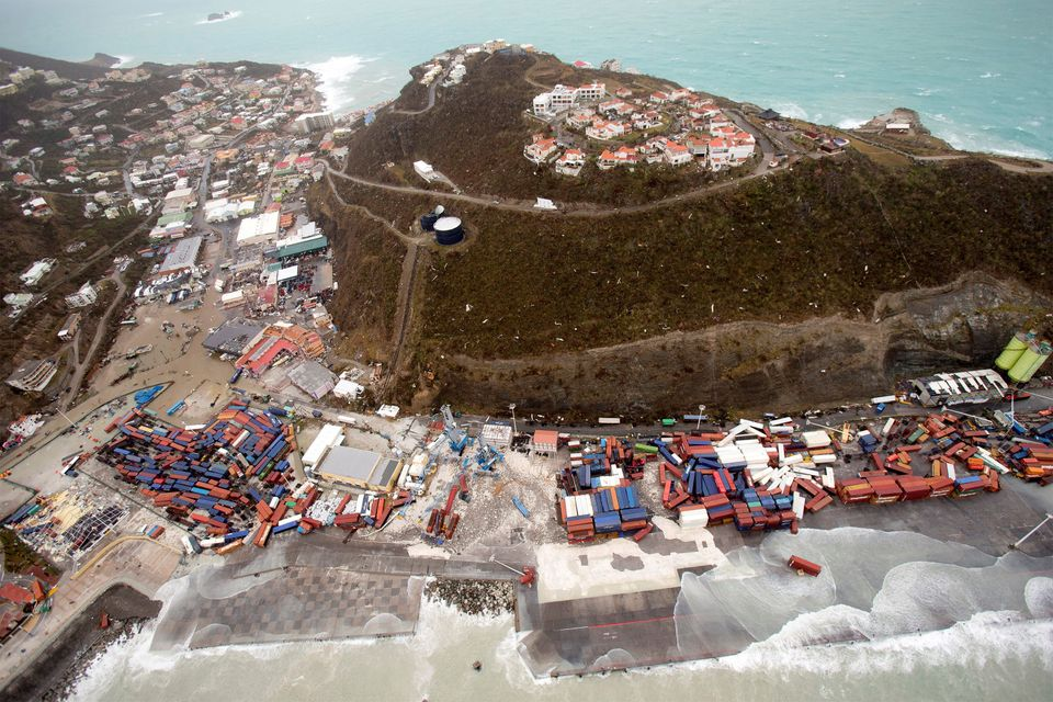 The aftermath of Hurricane Irma on Saint