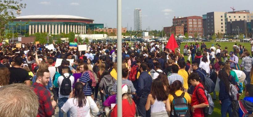 Pro-DACA rally held by Denver public school students on September 5, 2017
