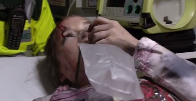 Abi was taken to hospital with