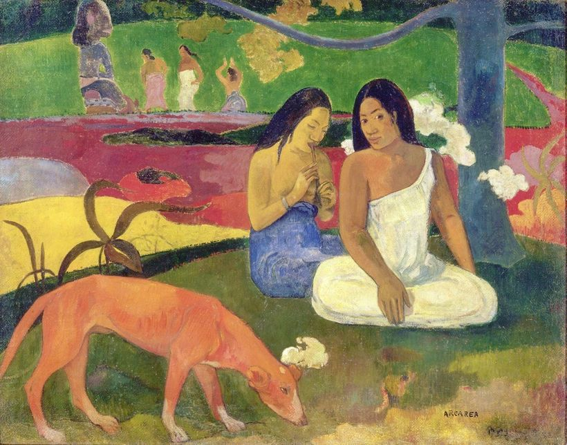 Image: Paul Gauguin. Arearea (Joyousness), 1892. Musée d'Orsay, Paris, bequest of M. and Mme Lung, 1961.
