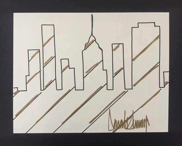 Drawing by Donald Trump submitted for evaluation to Barnebys.