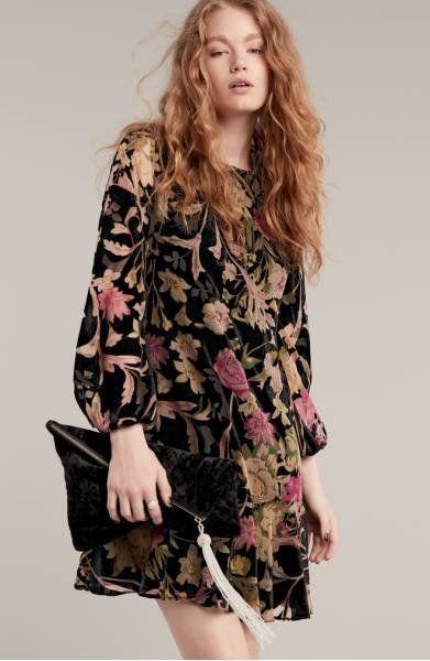"Shop it <a href=""http://shop.nordstrom.com/s/eliza-j-print-velvet-shift-dress-regular-petite/4667623?origin=category-personal"