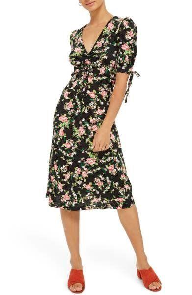 "Shop it <strong><a href=""http://shop.nordstrom.com/s/topshop-floral-ruched-midi-dress/4760730?origin=keywordsearch-personaliz"