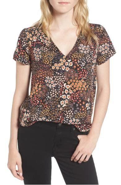 """Shop it <a href=""""http://shop.nordstrom.com/s/hinge-floral-v-neck-top/4717240?origin=keywordsearch-personalizedsort&fashio"""