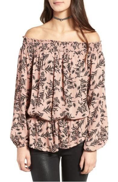 "Shop it <strong><a href=""http://shop.nordstrom.com/s/love-fire-floral-off-the-shoulder-top/4541762?origin=keywordsearch-perso"