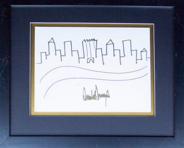 Drawing by Donald Trump which sold for nearly