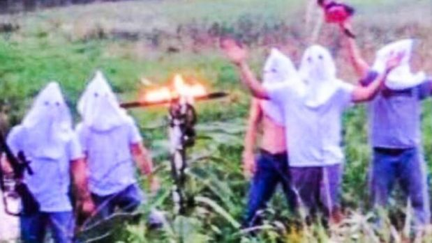 A Small Town, KKK Hoods, A Burning Cross, And A School