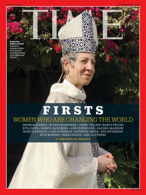 Schori is the first woman to be elected as the presiding bishop forthe Episcopal Church.