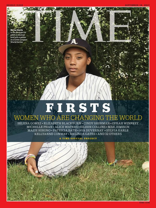 Davis isthe firstgirl to pitch a shutout and win a game in a Little League WorldSeries.