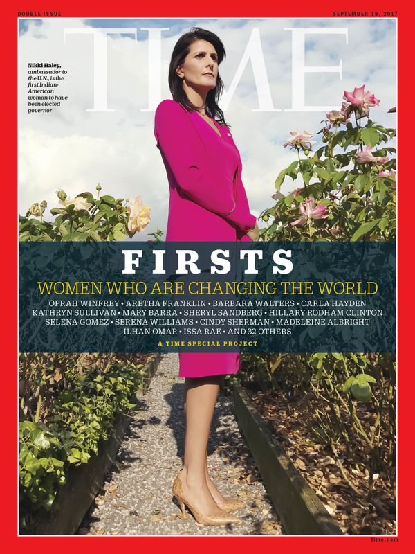 Haley is the first Indian-American woman to have been elected governor of a state.