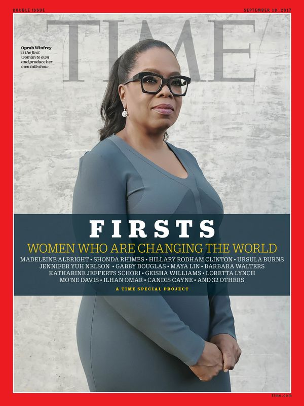 Winfrey is the first woman to own and produce her own talk show.