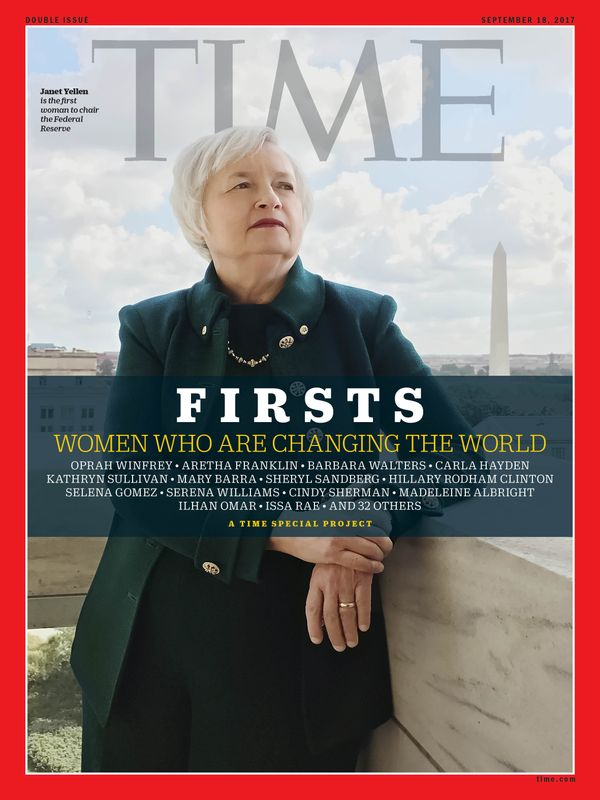Yellen is the first woman to chair the Federal Reserve.