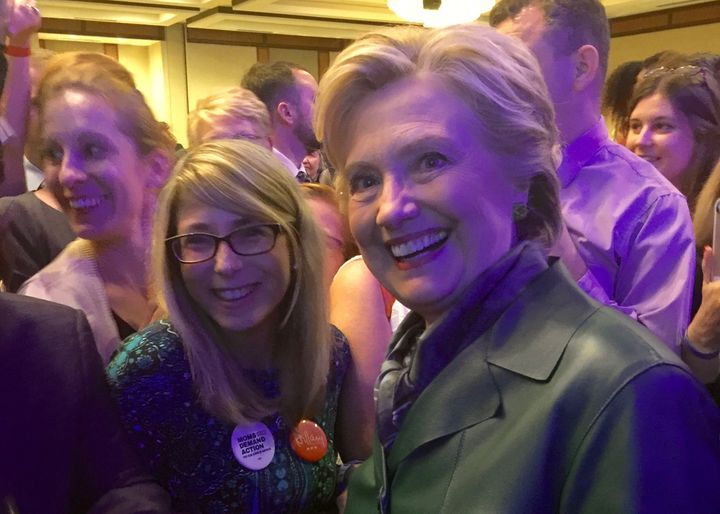 "Happier times:  After this October 5, 2016 campaign event, I told Hillary, ""I know you're going to win."""