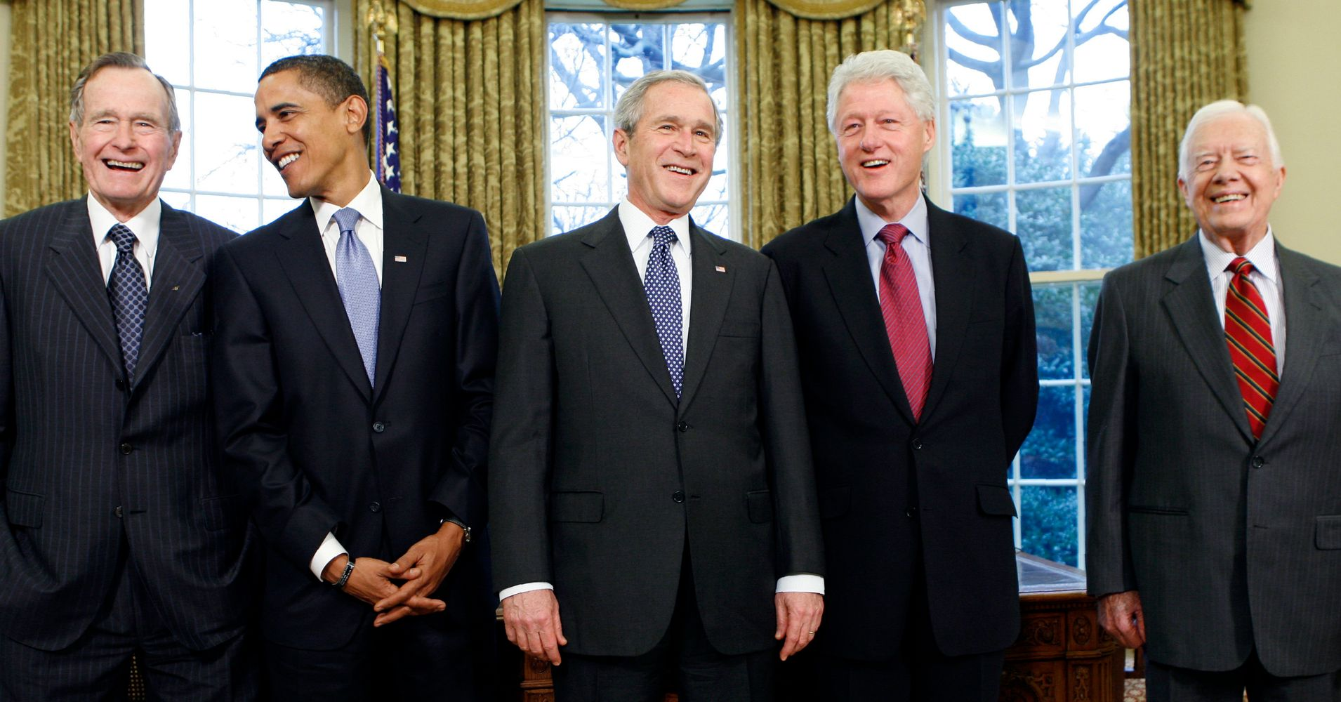 All The Living Former U.S. Presidents Rally To Help ...  All The Living ...