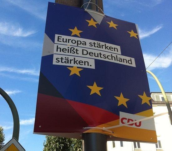 A CDU election poster in Berlin, September 2017.