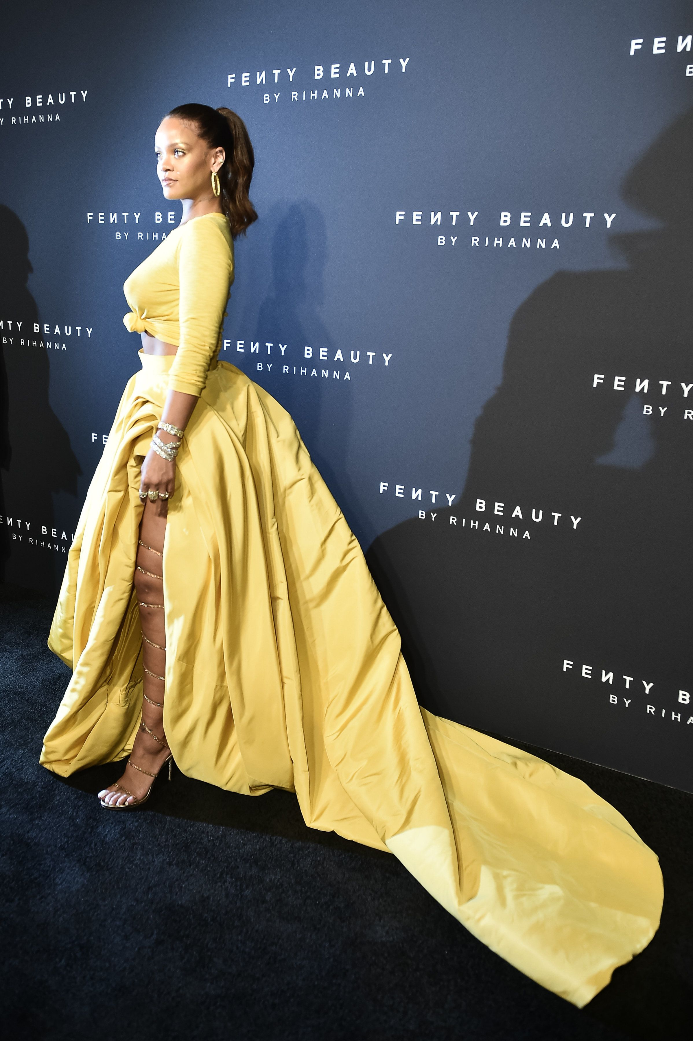 Rihanna Simply Glows At Her Inclusive Cosmetics Line, Fenty Beauty