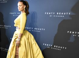 Rihanna Simply Glows At Her Inclusive Cosmetics Line, Fenty Beauty Launch