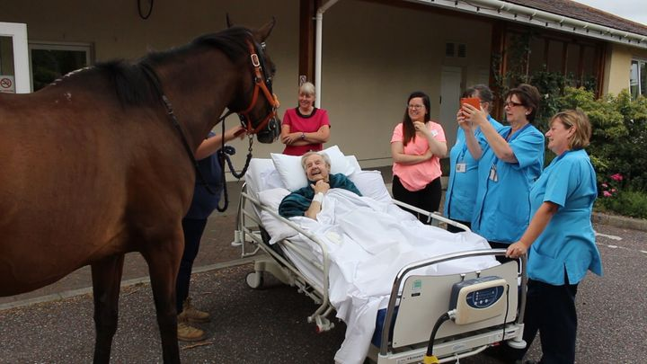 Patrick Saunders, 87, was granted his dying wish by hospice staff.