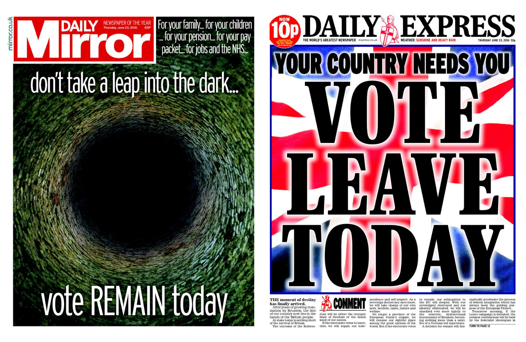 Anti-Brexit Trinity Mirror Is In Talks To Buy The Most Pro-Brexit Paper In