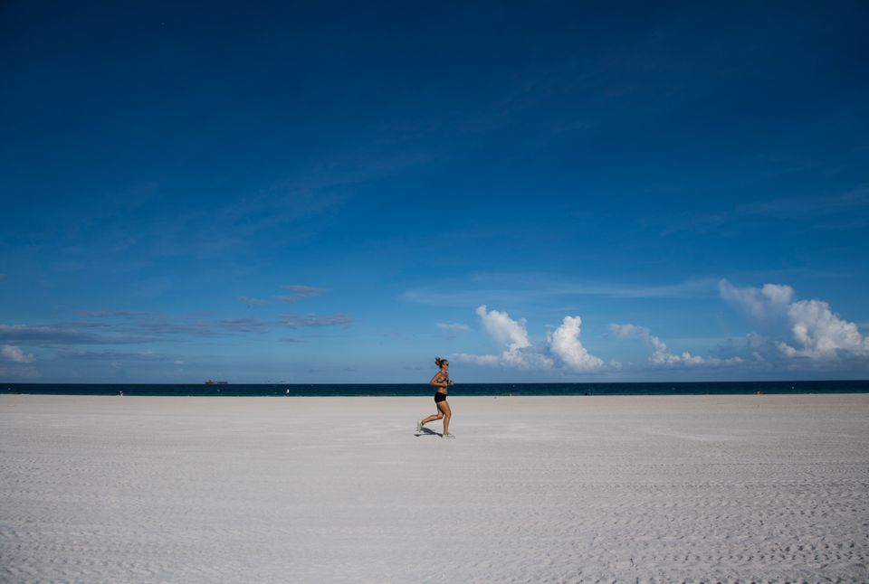 Photos from Florida show a near-deserted Miami Beach, with many locals and tourists having already fled...