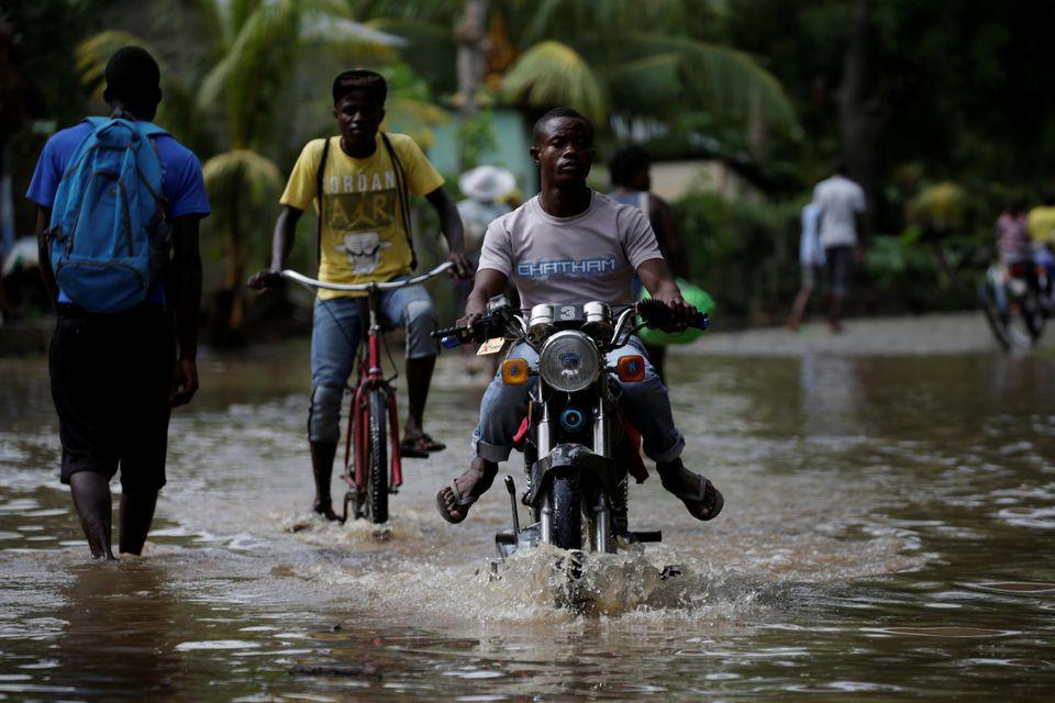 Heavy rains and winds hit Haiti last
