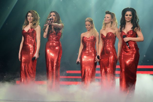 On stage during Girls Aloud's final