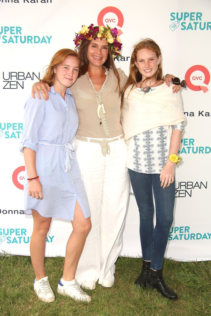 Rowan Henchy, Brooke Shields, and Grier Henchy attend the 20th Annual Super Saturday to benefit the Ovarian Cancer Research Fund Alliance on July 29.
