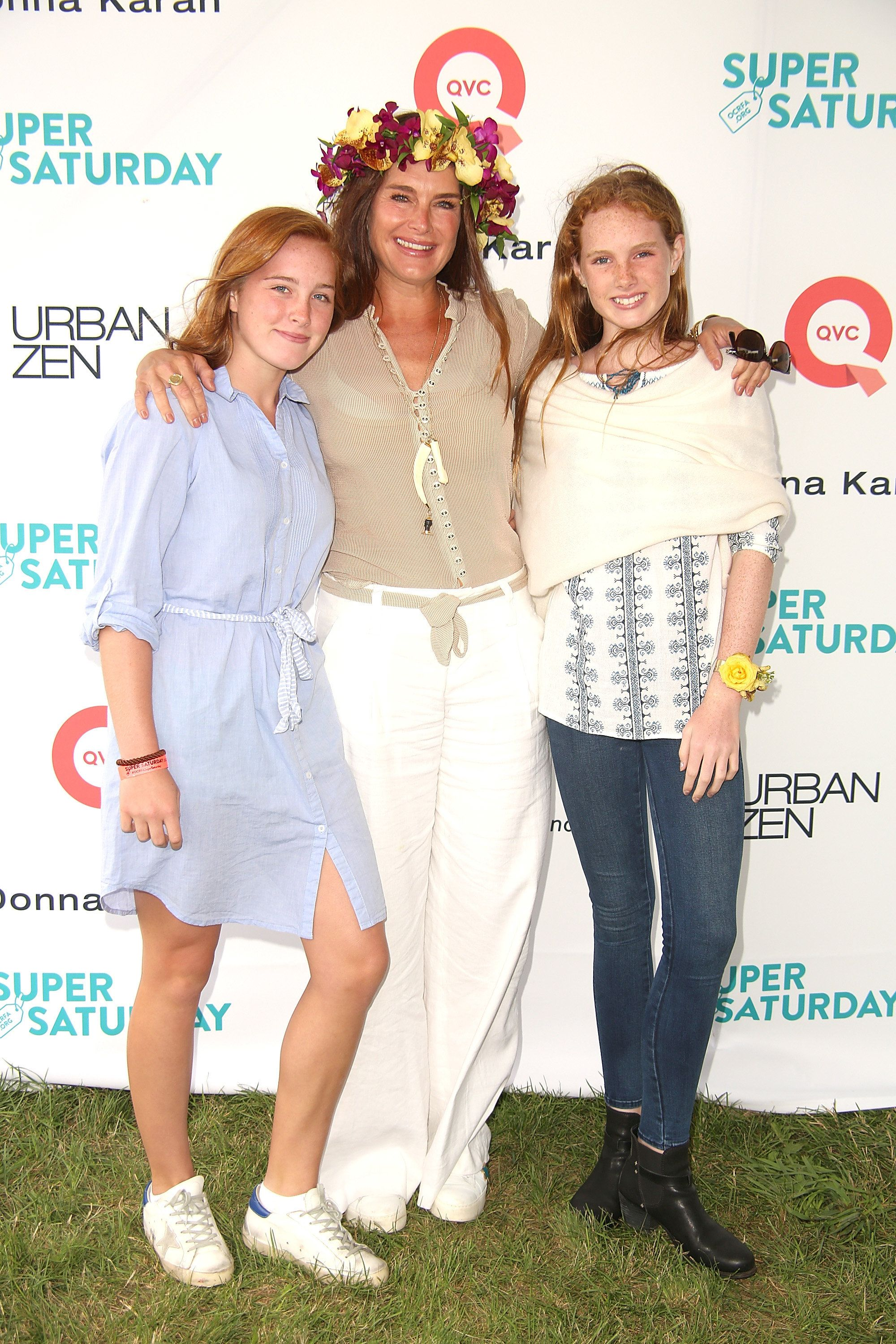 Rowan Henchy, Brooke Shields, and Grier Henchy attend the 20th Annual Super Saturday to benefit the Ovarian Cancer Research F