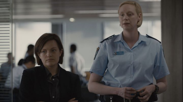 "Elisabeth Moss and Gwendoline Christie in ""Top of the Lake: China Girl."""