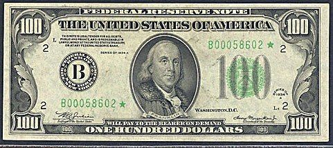 "See ""Federal Reserve Note"" printed above the words, THE UNITED STATES OF AMERICA"