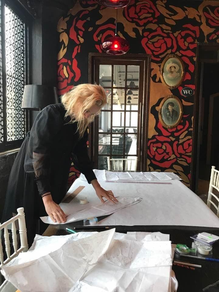 Lindsay Jones in her design studio