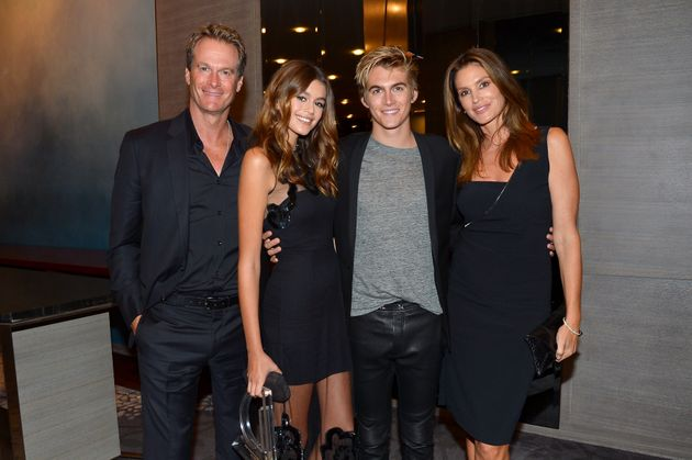 Rande, Kaia and Presley Gerber and Cindy Crawford attend the The Daily Front Row's 4th Annual Fashion...