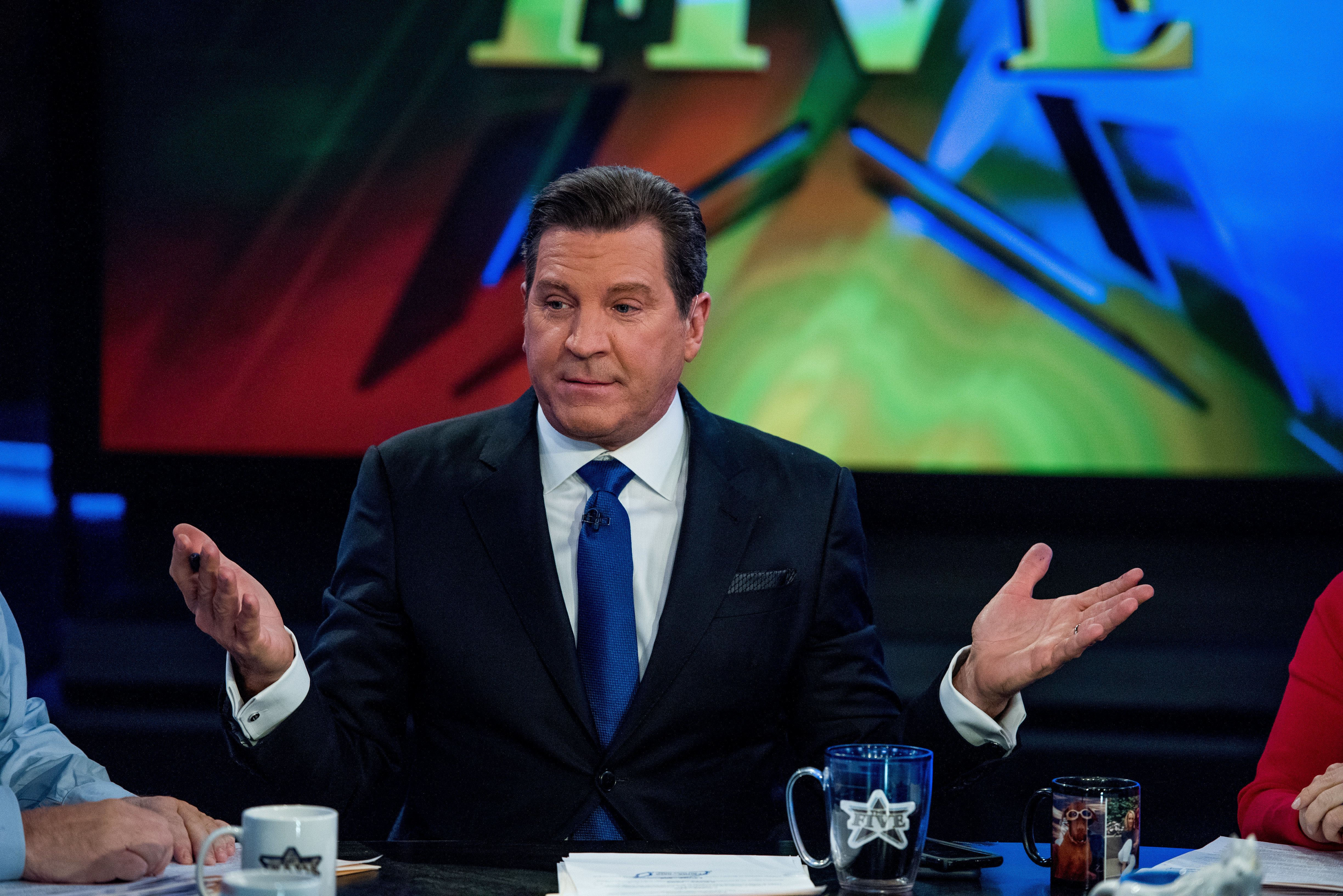 NEW YORK, NY - JANUARY 17:  Fox Host Eric Bolling sits on the panel of Fox News Channel's 'The Five' as pundit Bob Beckel rejoins the show at FOX Studios on January 17, 2017 in New York City. Ê  (Photo by Roy Rochlin/Getty Images)