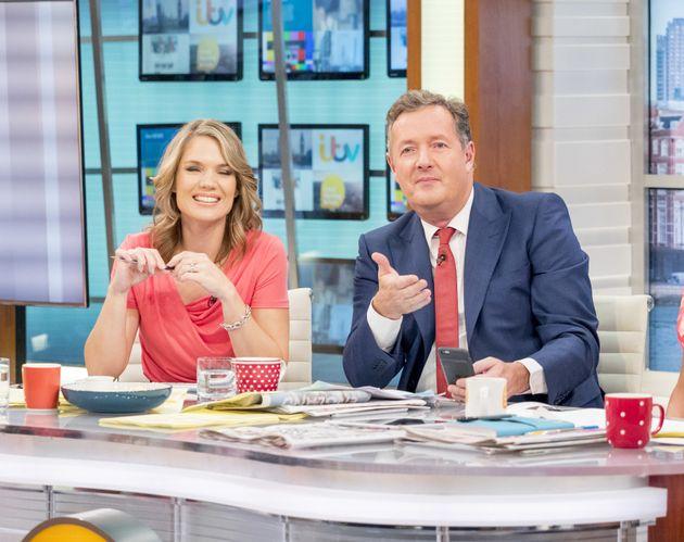 Charlotte Hawkins and Piers Morgan on 'Good Morning