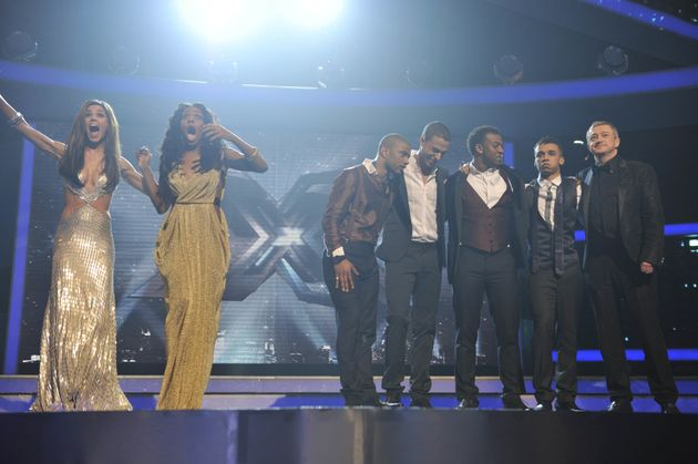 Alexandra and JLS in the 2008 'X Factor'