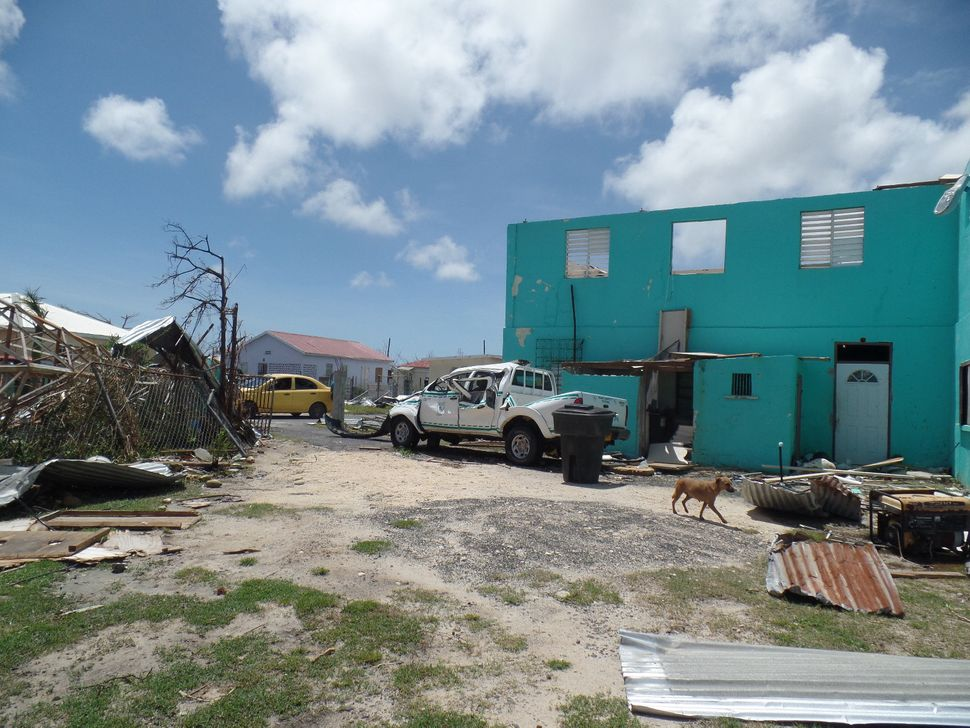 Codrington, Antigua and Barbuda, devastated by Hurricane Irma