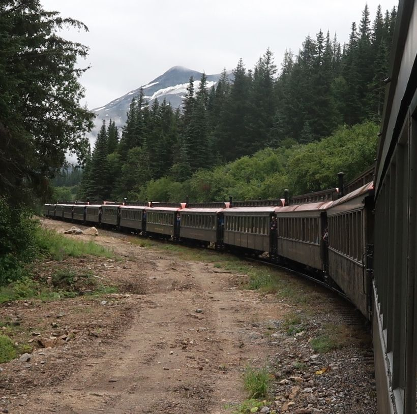 The White Pass Train from Fraser, BC to Skagway AK